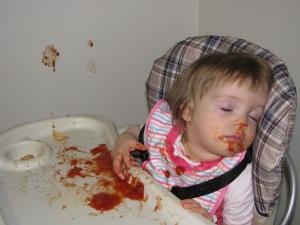 Asleep in the sauce